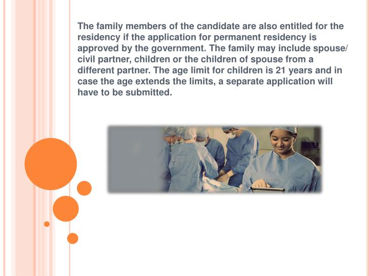 application is in progress permanent residence