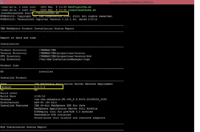 websphere application server command line install