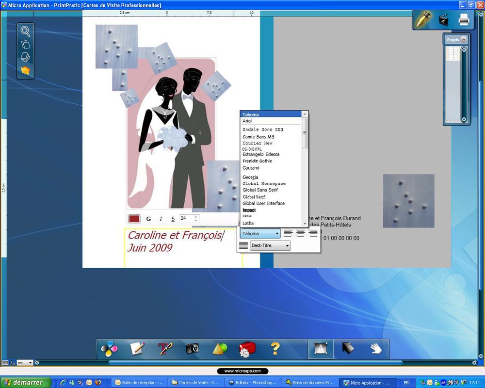 etiquette cd dvd micro application