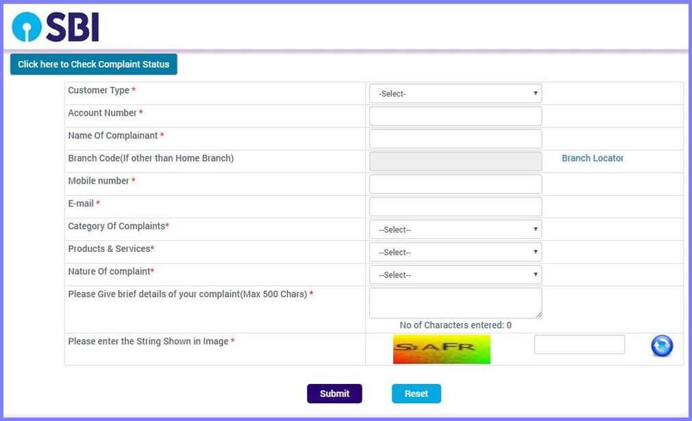 sbi credit card application status customer care