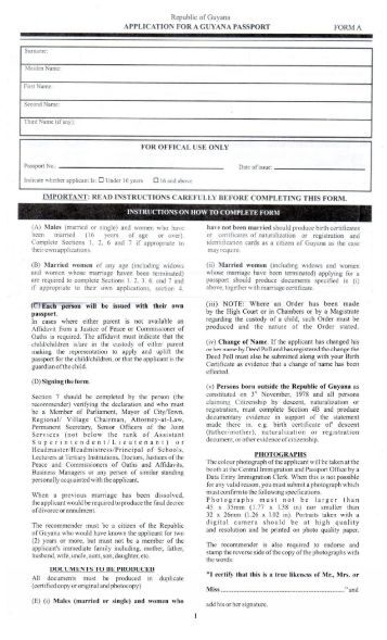 canada passport application form instructions