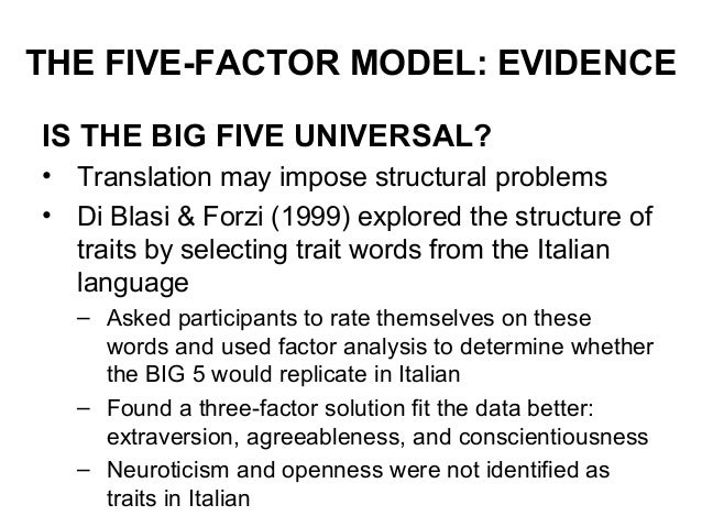 personality and psychopathology an application of the five-factor model