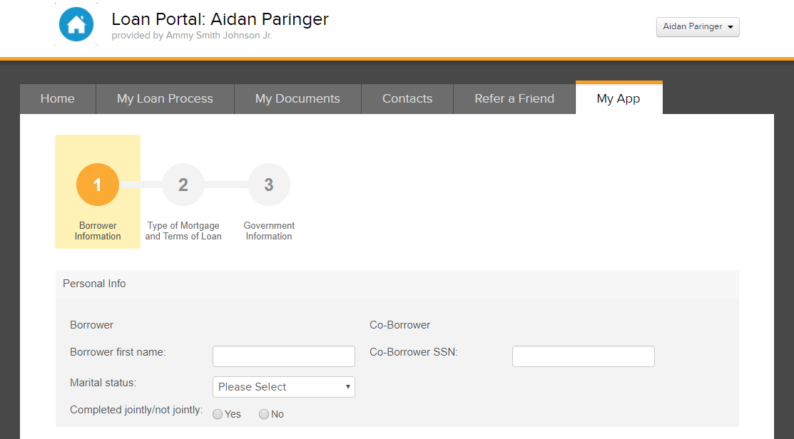 create an online mortage application
