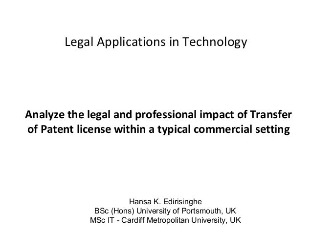 impact of technology in the applications business