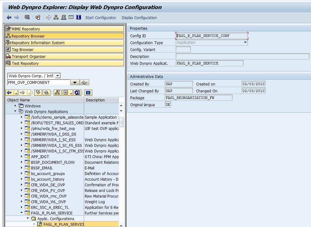 application component in sap bi