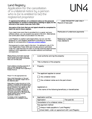 land title search application received