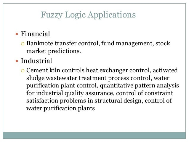 application of fuzzy control system