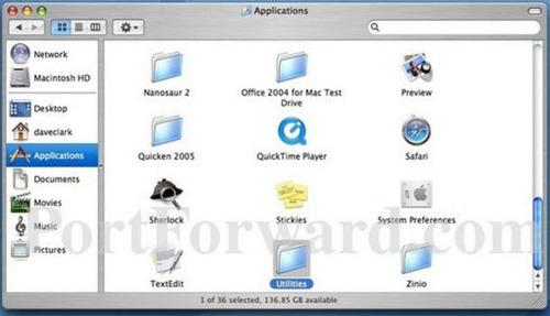 common application router port forwarding