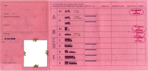 application point permis de conduire