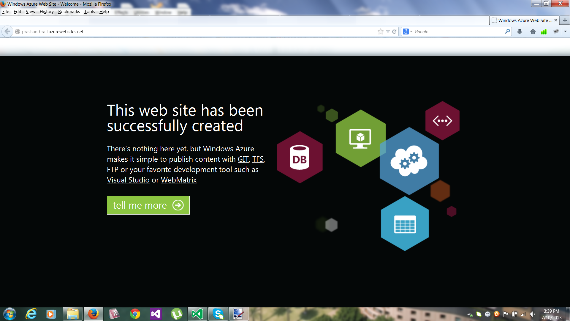 how to create a simple web application using asp net