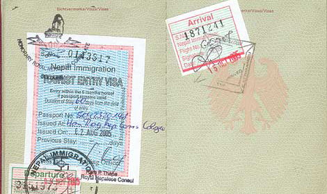 nepal visa application by mail