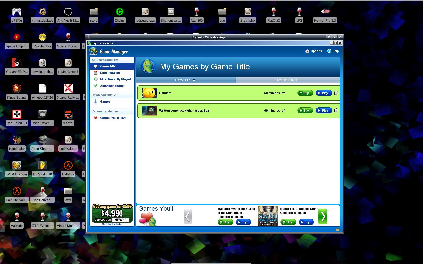 application big fish games manager