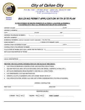 city of markham building permit application form