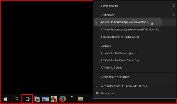 bouton application ne fonctionne pas windows 10