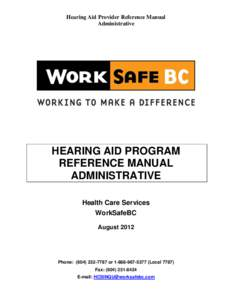 worksafebc application for hearing loss