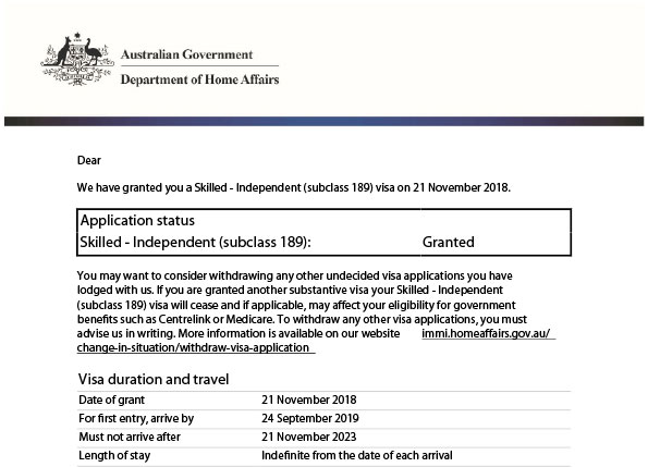 189 visa application processing time 2017