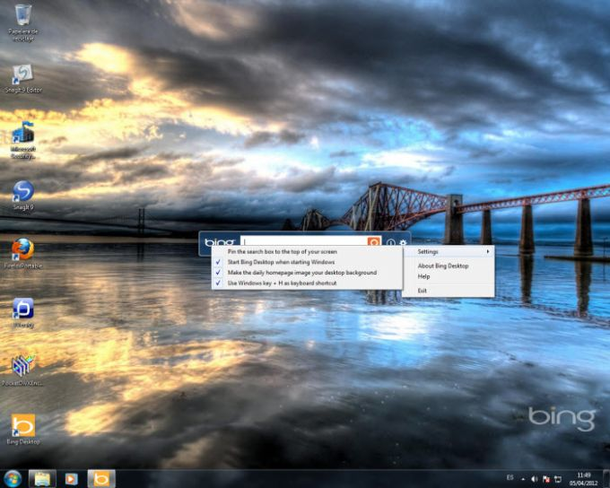 what is bing desktop application
