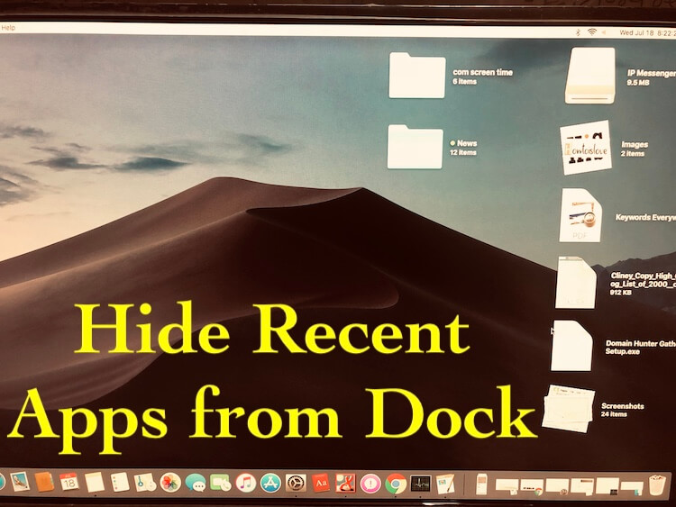 mac remove applications from dock