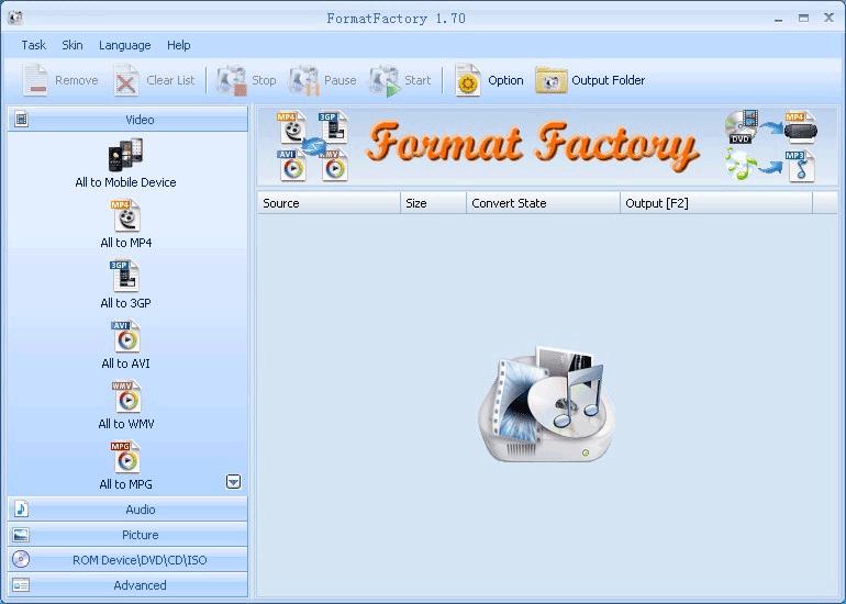 application converir en format avi
