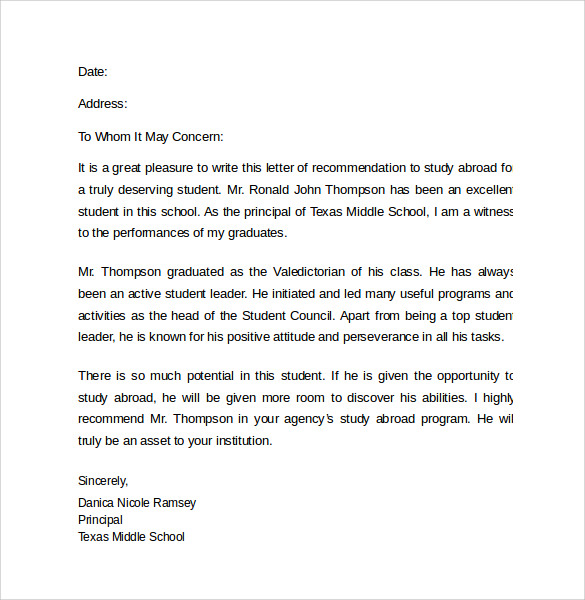 uoft study abroad application letter examples