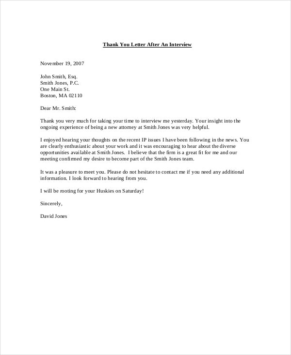 thank you letter after rejection application