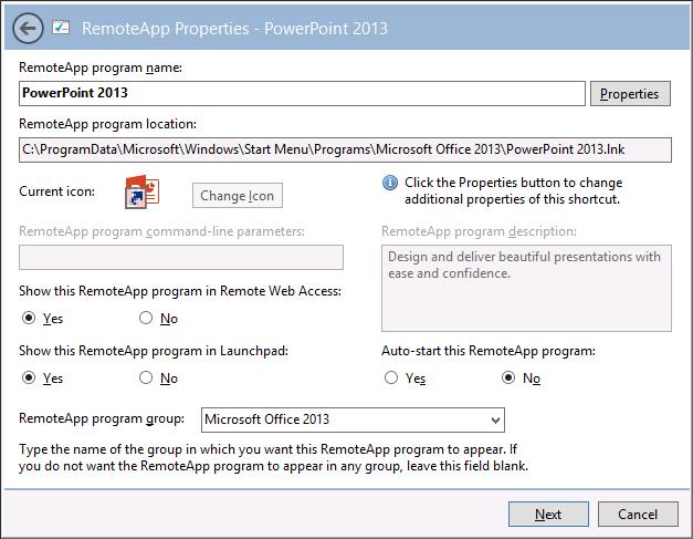 publish application using remote desktop services 2016