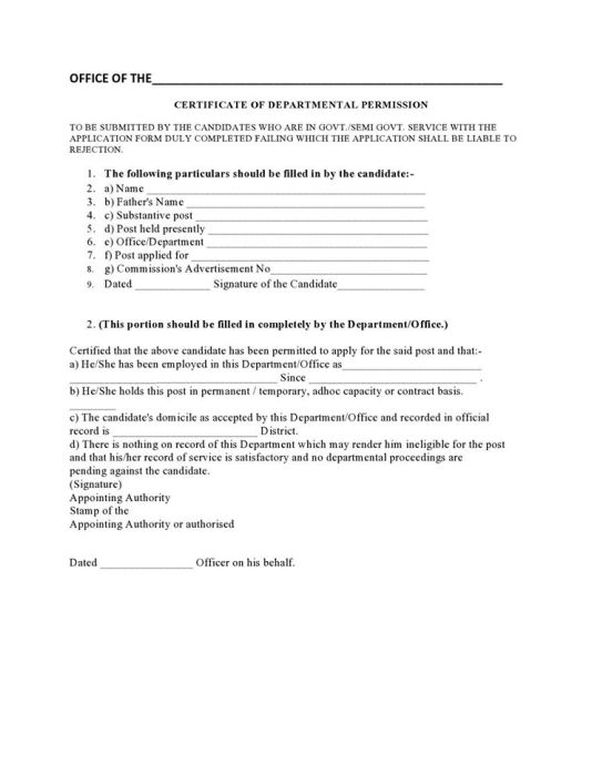 how to write application for continue certificate