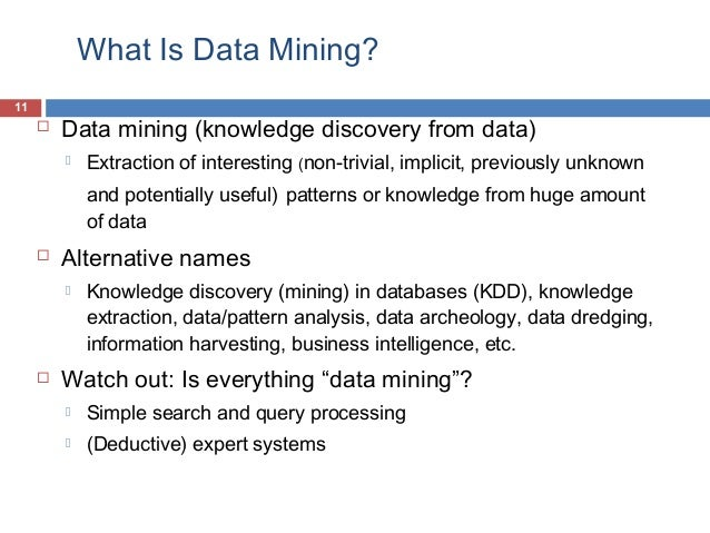 what is data mining and its applications