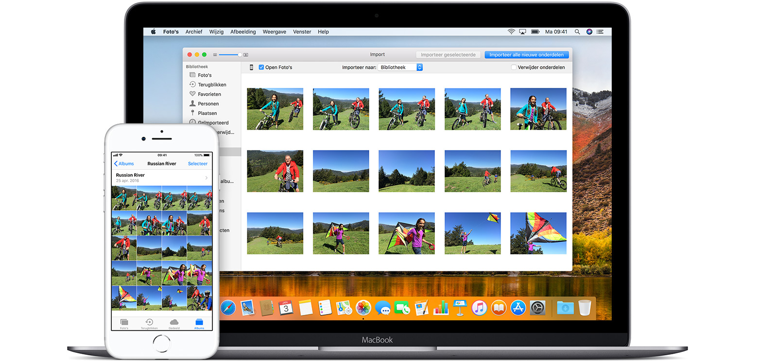 how to import photos from apple application support