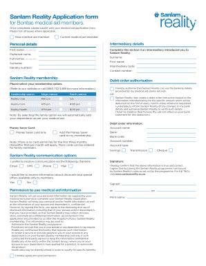 bonitas medical aid application form