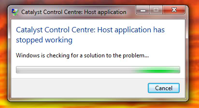 how to fix catalyst control center host application stopped working