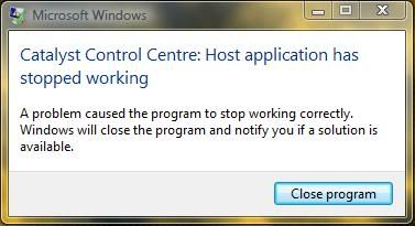 catalyst control center host application windows 10