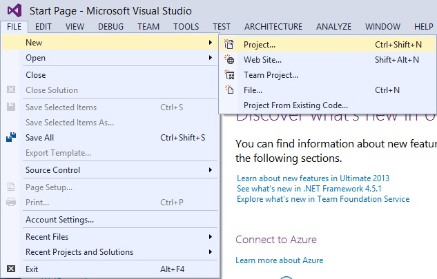 how to create web application in asp.net using c