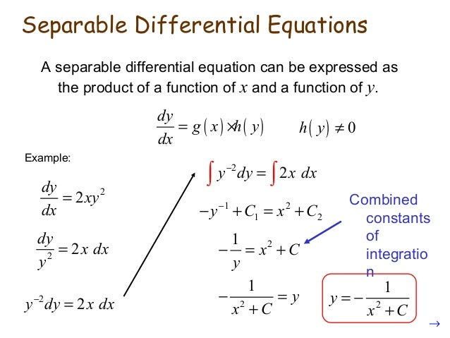 how to do application of differential equations