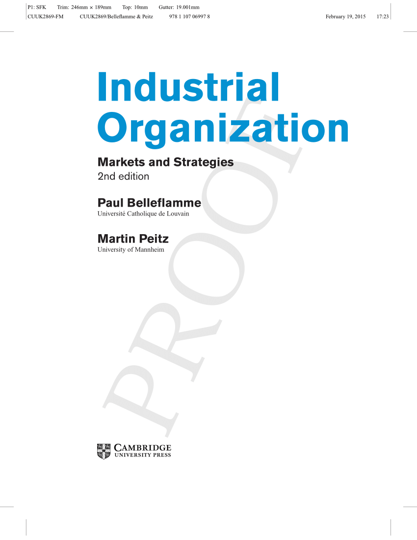 industrial organisation theory and application