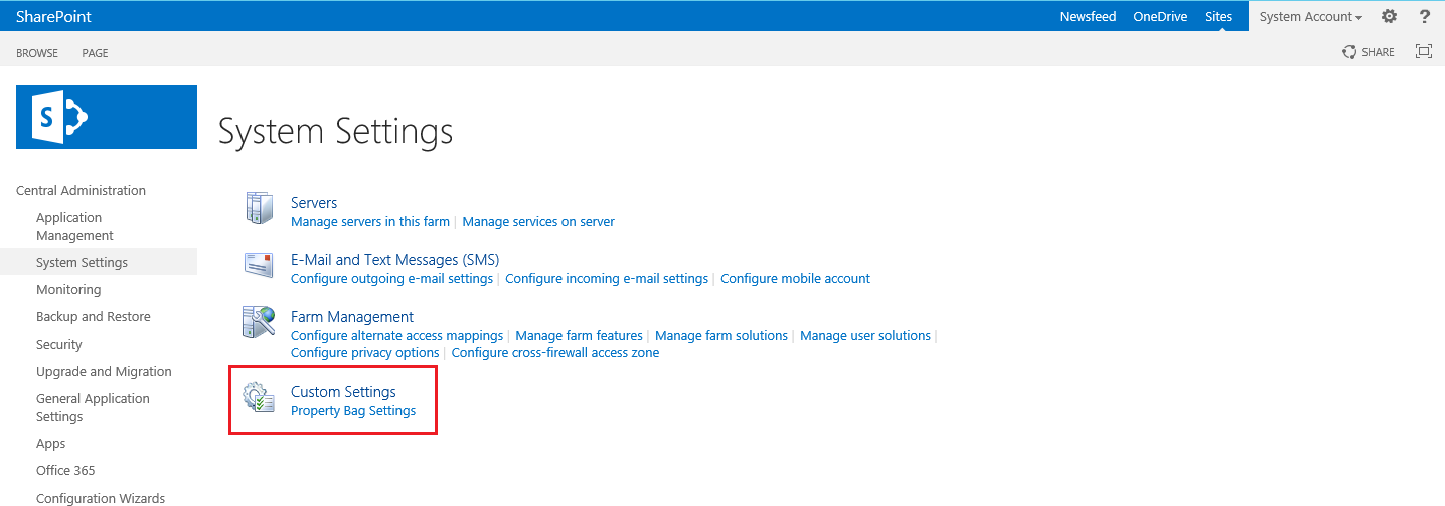 subscription settings service application sharepoint 2013