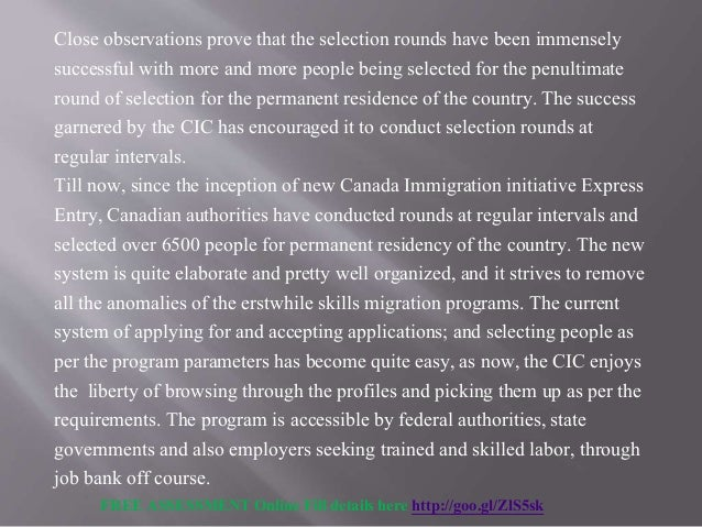 permanent residence canada application online