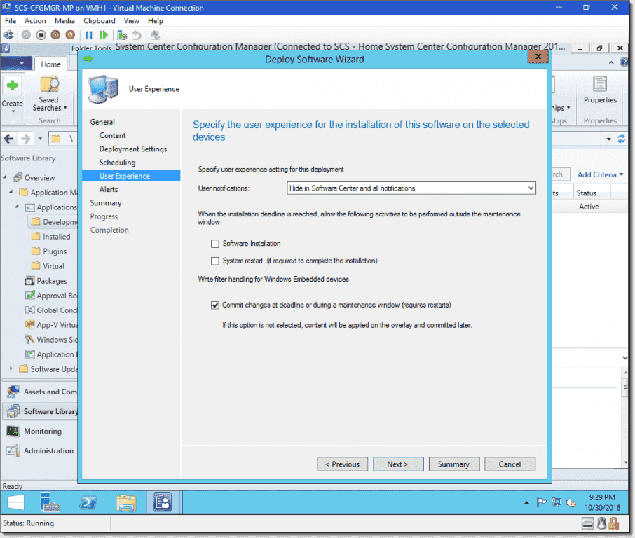 how to uninstall deployed application from sccm