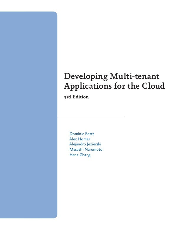 developing multi-tenant applications for the cloud foundry