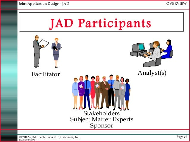 joint application development jad is used by systems developers when