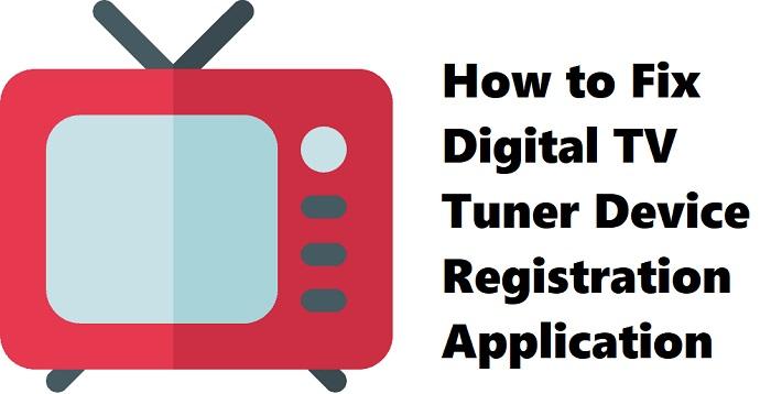 slowing down computer digital tv tuner device registration application