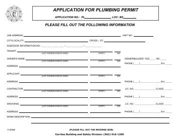 city of guelph plumbing permit application