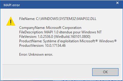 osm application error when sending email