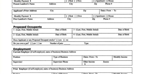 capital property management rental application