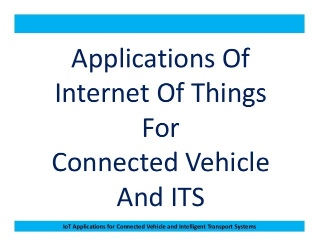 iot applications in automotive pdf
