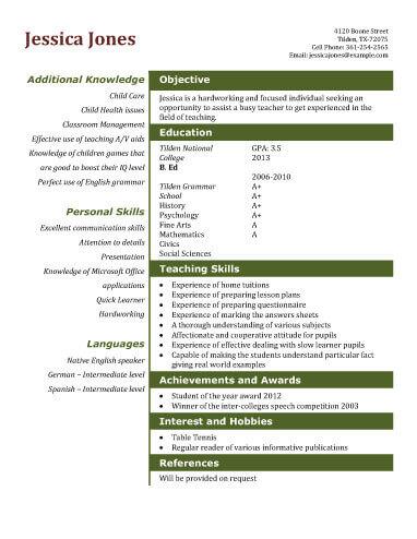 cv example for grad school applications