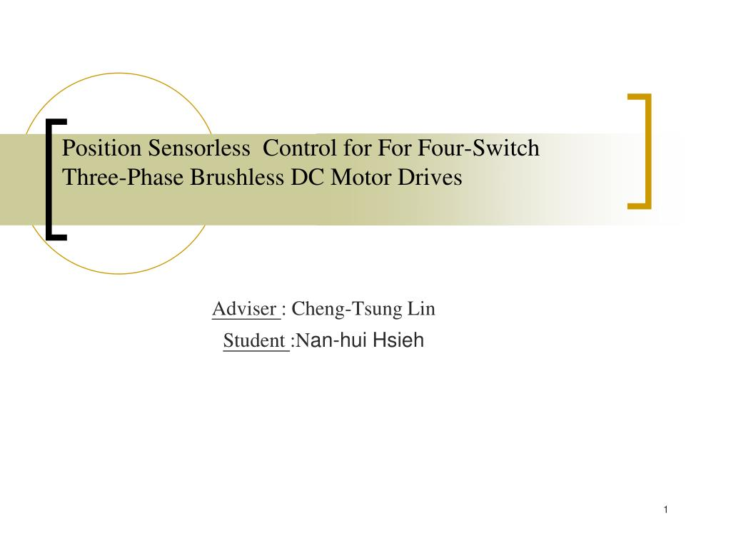 permanent magnet brushless dc motor applications