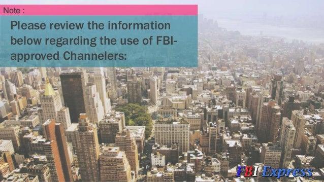 pr application rejected for using channeler fbi