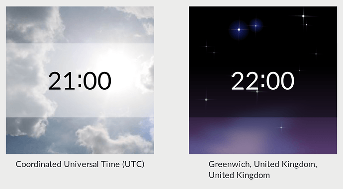 us time zone clock application