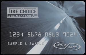 tire choice drive card application